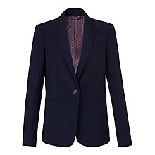 Buy Jigsaw London Fit Gaberdine Jacket, Navy Online at johnlewis.com