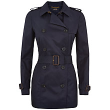 Buy Jaeger Double Breasted Trench Coat, Midnight Online at johnlewis.com