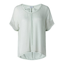 Buy Jigsaw Silk Chiffon Spot Top Online at johnlewis.com