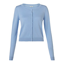 Buy Jigsaw Silk Cotton Blend Crew Cardigan Online at johnlewis.com