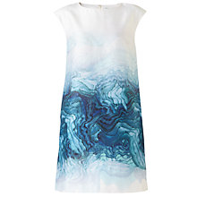 Buy Jigsaw Agate Print Structured Dress, Teal Online at johnlewis.com