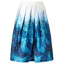 Buy Jigsaw Agate Placement Skirt, Teal Online at johnlewis.com