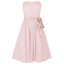 Buy Kaliko Beaded Bustier Dress, Pastel Pink Online at johnlewis.com