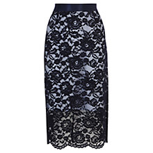 Buy Coast Mirette Skirt, Navy Online at johnlewis.com