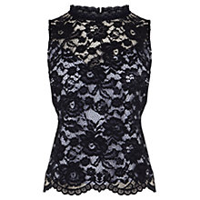Buy Coast Mirette Lace Top, Navy Online at johnlewis.com