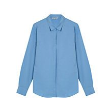 Buy Gerard Darel Anne Light Poplin Shirt, Blue Online at johnlewis.com