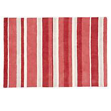 Buy John Lewis Amelia Striped Rug, Red Online at johnlewis.com