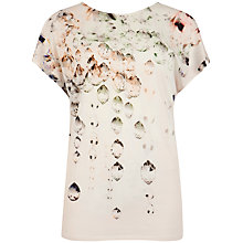 Buy Ted Baker Crystal Droplets T-Shirt, Nude Pink Online at johnlewis.com
