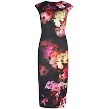 Buy Ted Baker Cascading Flora Midi Dress, Black Online at johnlewis.com