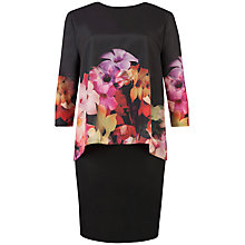 Buy Ted Baker Cascading Floral Tunic Dress, Black Online at johnlewis.com
