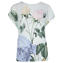 Buy Ted Baker Distinguishing Rose T-Shirt, Mint Online at johnlewis.com