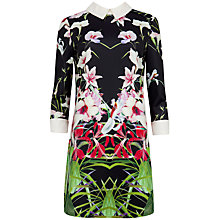 Buy Ted Baker Mirrored Tropics Dress, Black Online at johnlewis.com