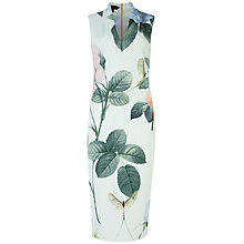 Buy Ted Baker Distinguishing Rose Midi Dress, Mint Online at johnlewis.com