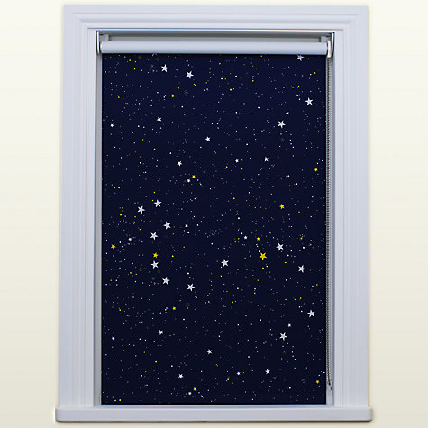 Buy bloc fabric changer blackout roller blind blue night for Night sky fabric uk