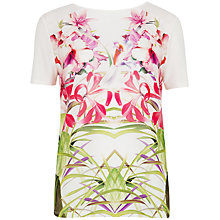 Buy Ted Baker Mirrored Tropics Graphic T-Shirt, Cream Online at johnlewis.com