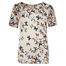 Buy Ted Baker Butterfly Cluster T-Shirt, Natural Online at johnlewis.com