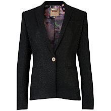 Buy Ted Baker Textured Snake Suit Jacket, Black Online at johnlewis.com