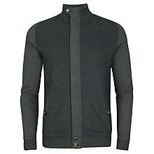 Buy Ted Baker Jensill Herringbone Zip Through Cardigan Online at johnlewis.com