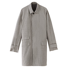 Buy Jigsaw Showerproof Cotton Mac, Grey Online at johnlewis.com