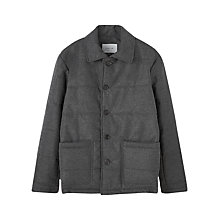 Buy Jigsaw Proofed Flannel Padded Jacket, Grey Online at johnlewis.com