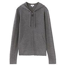 Buy Jigsaw Milano Zip Hoodie, Grey Online at johnlewis.com