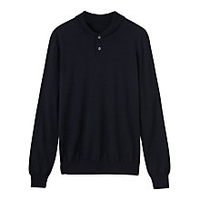 Buy Jigsaw Knitted Merino Wool Jersey Top Online at johnlewis.com