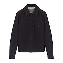Buy Jigsaw Twill Trucker Jacket, Navy Online at johnlewis.com