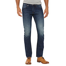 Buy Original Penguin Slim Fit Denim Jeans, Mid Blue Wash Online at johnlewis.com
