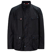 Buy Barbour International Simonside Waxed Cotton Jacket, Navy Online at johnlewis.com