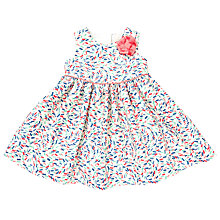 Buy John Lewis Baby's Confetti Texture Dress, White/Multi Online at johnlewis.com