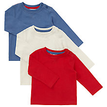 Buy John Lewis Baby Long Sleeve T-Shirts, Pack of 3 Online at johnlewis.com