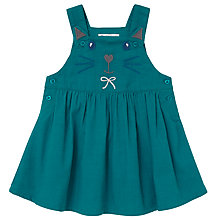Buy John Lewis Baby Cat Cord Pinnafore Dress, Teal Online at johnlewis.com
