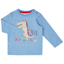 Buy John Lewis Baby Dinosaur Print Top, Blue Online at johnlewis.com
