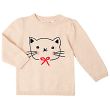 Buy John Lewis Cat Face Jumper, Cream Online at johnlewis.com