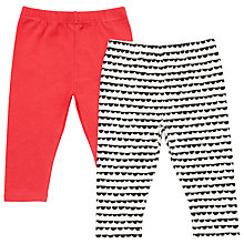 Buy John Lewis Baby Leggings, Pack of 2, Multi Online at johnlewis.com