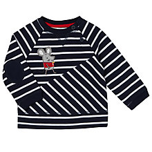 Buy John Lewis Baby Striped Mouse Sweat Top, Navy/White Online at johnlewis.com