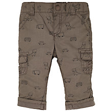 Buy John Lewis Baby Dinosaur Print Trousers, Green Online at johnlewis.com