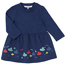 Buy John Lewis Baby Long Sleeve Jersey Dress, Blue Online at johnlewis.com