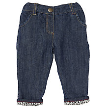 Buy John Lewis Baby Print Lined Jeans, Denim Online at johnlewis.com