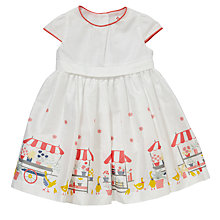 Buy John Lewis Baby's Flower Stall Sateen Dress, Multi Online at johnlewis.com