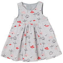 Buy John Lewis Baby Sleeveless Flower Dress, Grey Online at johnlewis.com