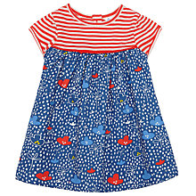 Buy John Lewis Baby Stripes and Flowers Dress, Multi Online at johnlewis.com