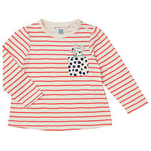 Buy John Lewis Baby Mouse Stripe T-Shirt, Red/White Online at johnlewis.com