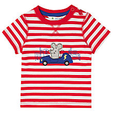 Buy John Lewis Baby Mouse Car T-Shirt, Red/White Online at johnlewis.com