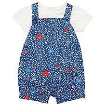 Buy John Lewis Baby Flower Bibshort Set, Blue Online at johnlewis.com