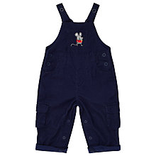 Buy John Lewis Baby Mouse Corduroy Dungarees, Navy Online at johnlewis.com