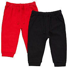 Buy John Lewis Baby Joggers, Pack of 2, Red/Black Online at johnlewis.com
