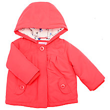 Buy John Lewis Baby's Hooded Cat Lining Coat, Red Online at johnlewis.com