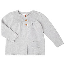Buy John Lewis Baby's Marl Cardigan, Grey Online at johnlewis.com