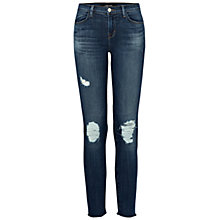 Buy J Brand 835 Mid Rise Cropped Skinny Jeans, Trouble Maker Online at johnlewis.com